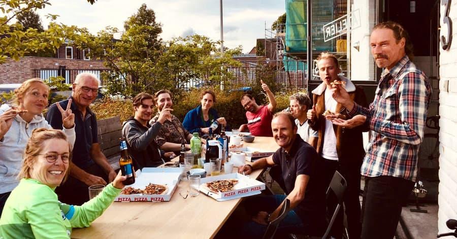 Team uitje fietskoeriers in Tilburg